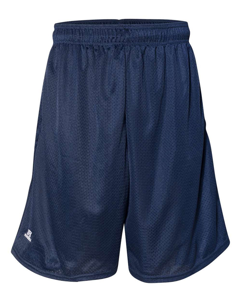 "9"" Dri-Power Tricot Mesh Shorts with Pockets-Russell Athletic-Pacific Brandwear"