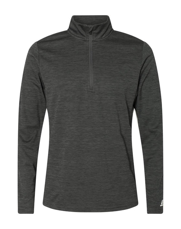 Striated Quarter-Zip Pullover-Russell Athletic-Pacific Brandwear