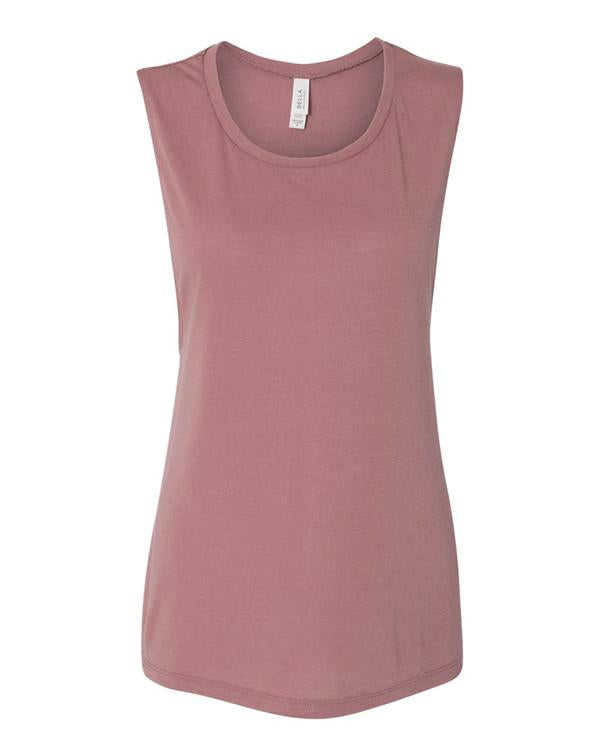 Bella Women's Flowy Scoop Muscle Tank-BELLA CANVAS-Pacific Brandwear