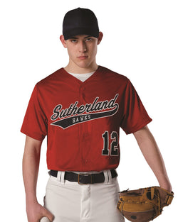 Youth Dura Light Mesh Baseball Jersey-Alleson Athletic-Pacific Brandwear