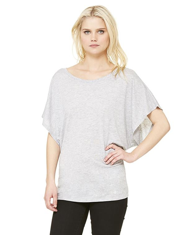 Bella Women's Flowy Draped Dolman Tee-BELLA CANVAS-Pacific Brandwear