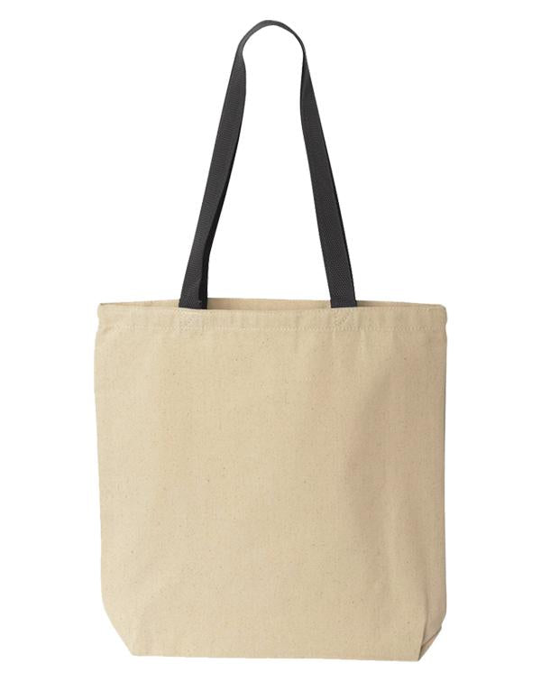 Liberty Bags Natural Tote with Colored Handles-Liberty Bags-Pacific Brandwear