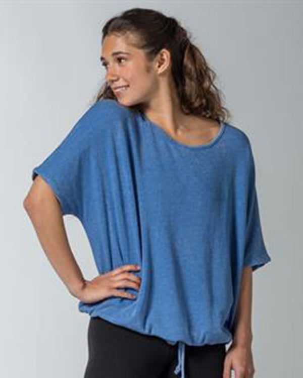 Angel Terry Slouch Tie Up Tee-MV Sport-Pacific Brandwear