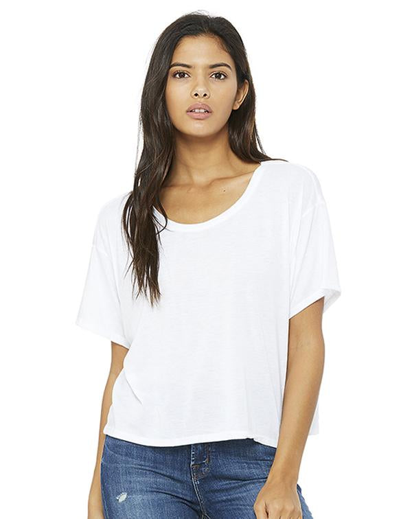 Bella Women's Flowy Boxy Tee-BELLA CANVAS-Pacific Brandwear