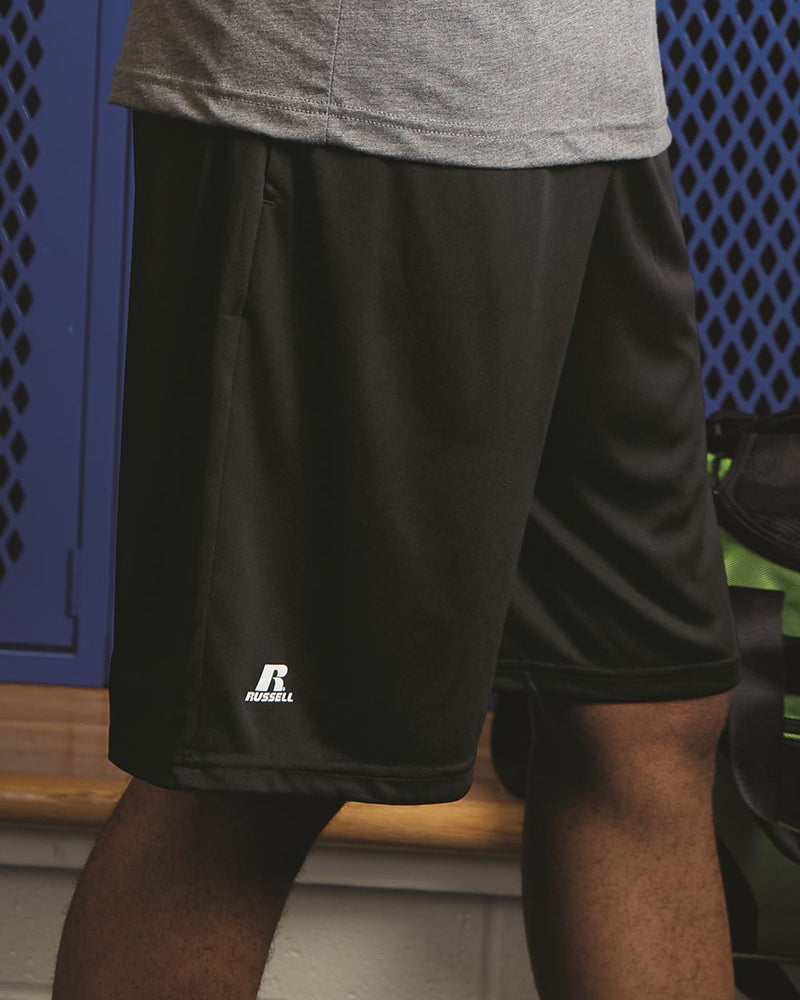 "Dri-Power Essential 10"" Shorts with Pockets-Russell Athletic-Pacific Brandwear"