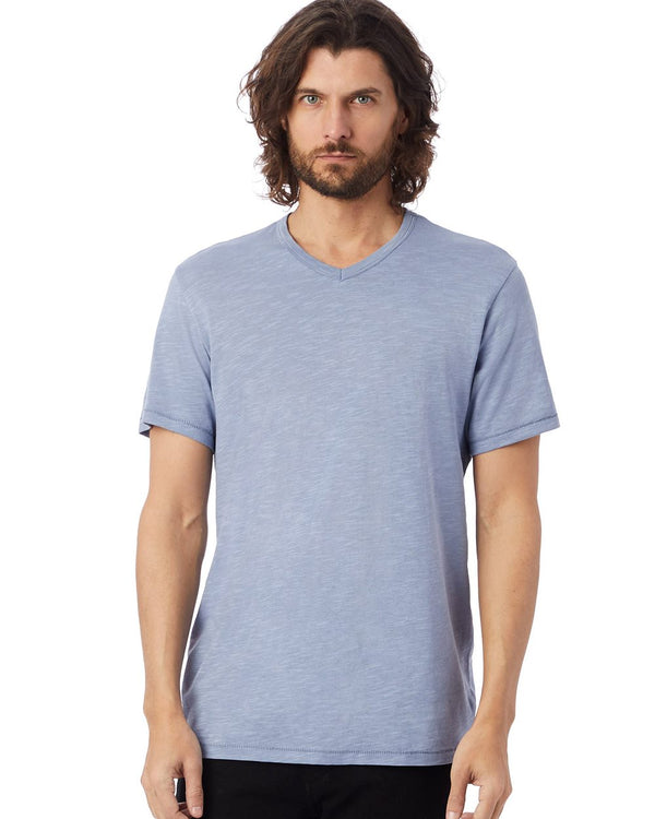 Weathered Slub Keeper V-Neck T-Shirt-Alternative Apparel-Pacific Brandwear