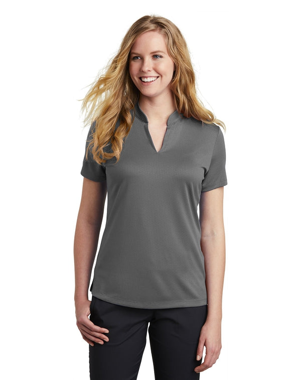 Nike Ladies Dri-FIT Hex Textured V-Neck Top-Nike-Pacific Brandwear