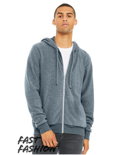 Fast Fashion Unisex Sueded Fleece Full-Zip Hoodie-BELLA + CANVAS-Pacific Brandwear