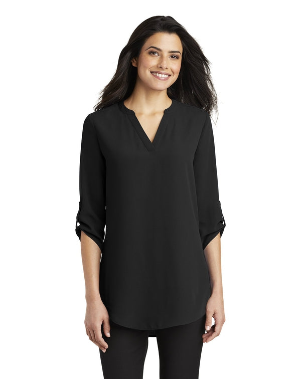 Port Authority® Ladies 3/4-Sleeve Tunic Blouse-Port Authority-Pacific Brandwear