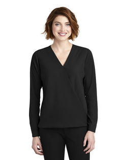 Port Authority ®Ladies Wrap Blouse-Port Authority-Pacific Brandwear