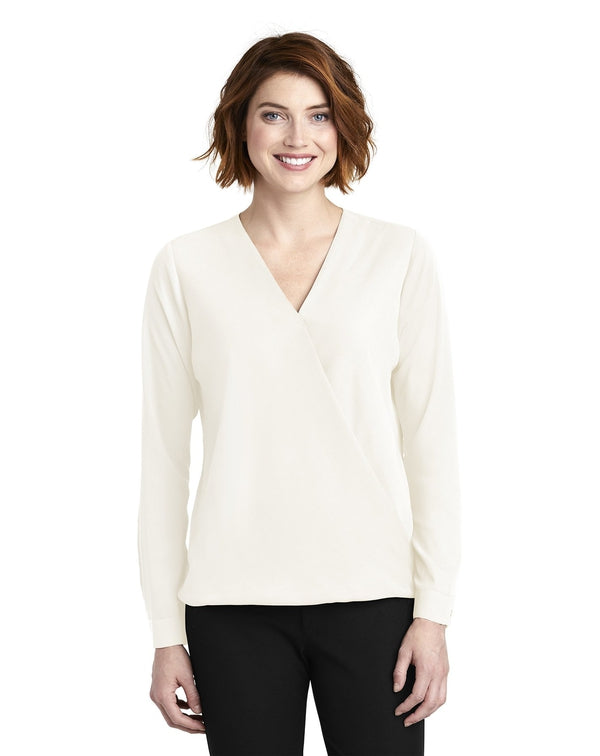 Port Authority® Ladies Wrap Blouse-Port Authority-Pacific Brandwear