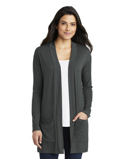 Port Authority® Ladies Concept Long Pocket Cardigan-Port Authority-Pacific Brandwear