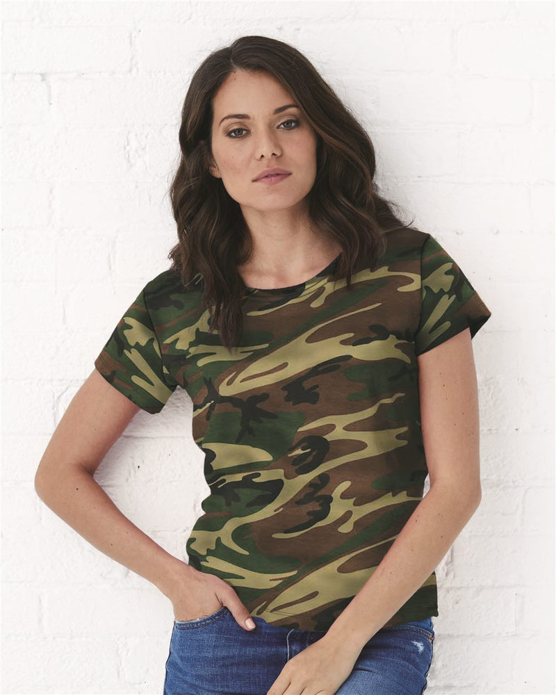Women's Camo Tee-Code Five-Pacific Brandwear