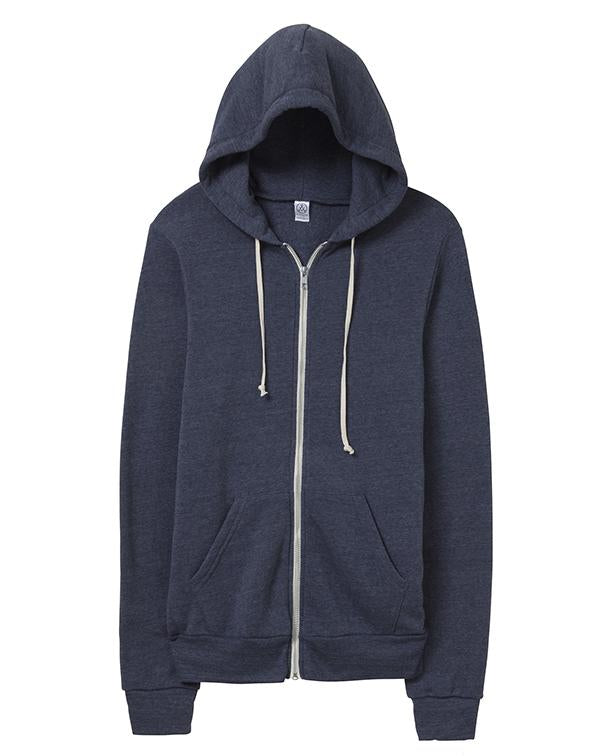 Alternative Rocky Eco-Fleece Zip Hoodie-Alternative Apparel-Pacific Brandwear