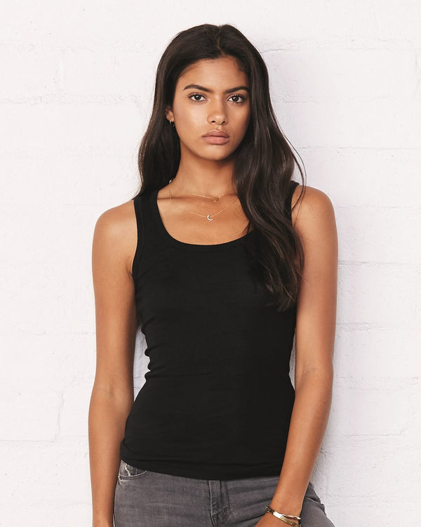 Women's Sheer Mini Rib Tank-BELLA + CANVAS-Pacific Brandwear