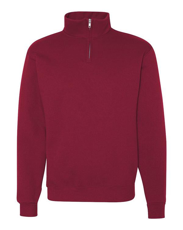 Jerzees Nublend® Cadet Collar Quarter-Zip Sweatshirt-Jerzees-Pacific Brandwear