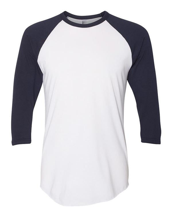 American Apparel Raglan Three Quarter-Sleeve T-Shirt-American Apparel-Pacific Brandwear