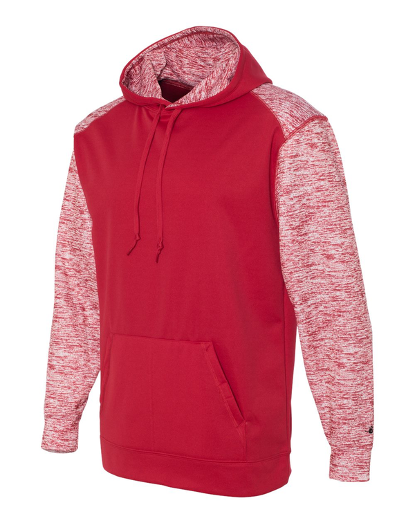 Camo Colorblock Performance Fleece Hooded Sweatshirt-Badger-Pacific Brandwear