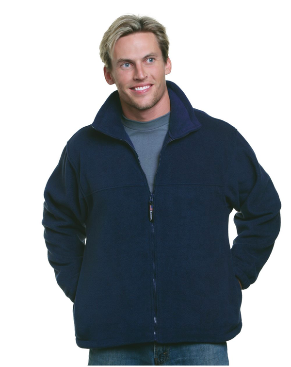 USA-Made Full-Zip Fleece Jacket-Bayside-Pacific Brandwear