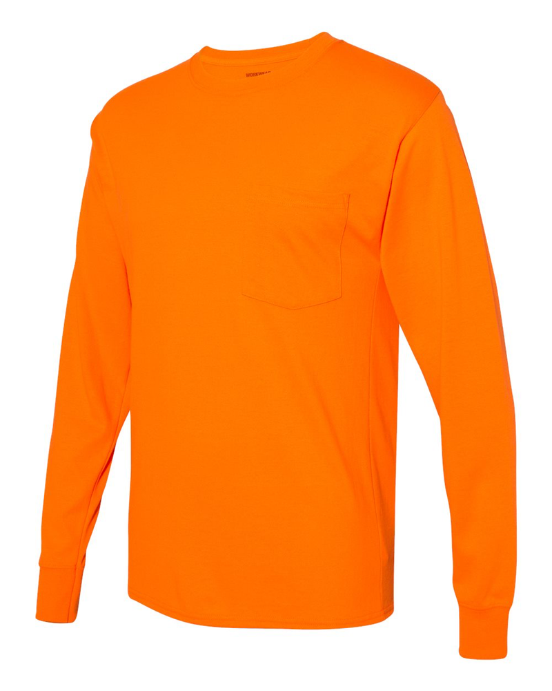 Workwear Long sleeve Pocket T-Shirt-Hanes-Pacific Brandwear