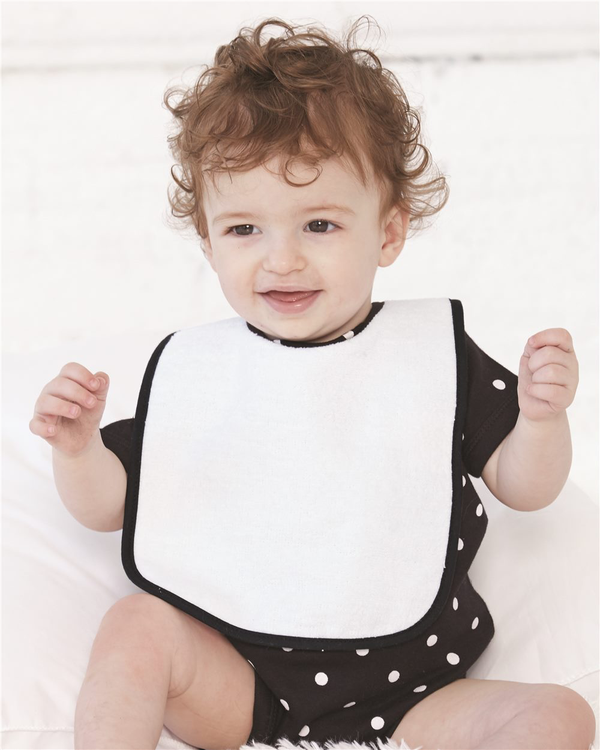 Infant Contrast Trim Terry Bib-Rabbit Skins-Pacific Brandwear