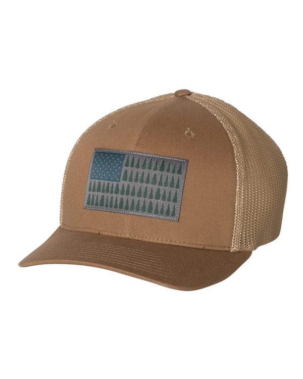 PFG Tree Flag Mesh Flexfit Cap-Columbia-Pacific Brandwear