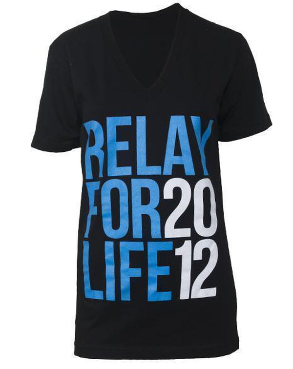 Relay For Life Cancer V-neck-Pacific Brandwear-Pacific Brandwear