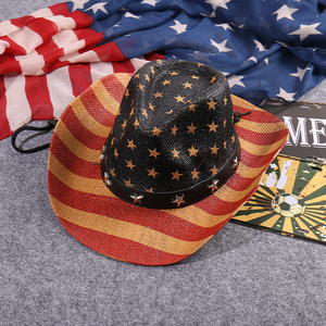 Patriotic Stars and Stripes Cowboy Hat