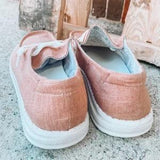 【Last 125 pairs】【Final Sale Only Today⭐ Factory Outlet】Women's Canvas Lace-Up Sneakers