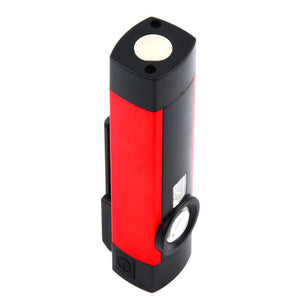 LED Flashlight COB XPE Working Light Portable Working Torch 4 Modes with Magnet Built-In Battery Lantern