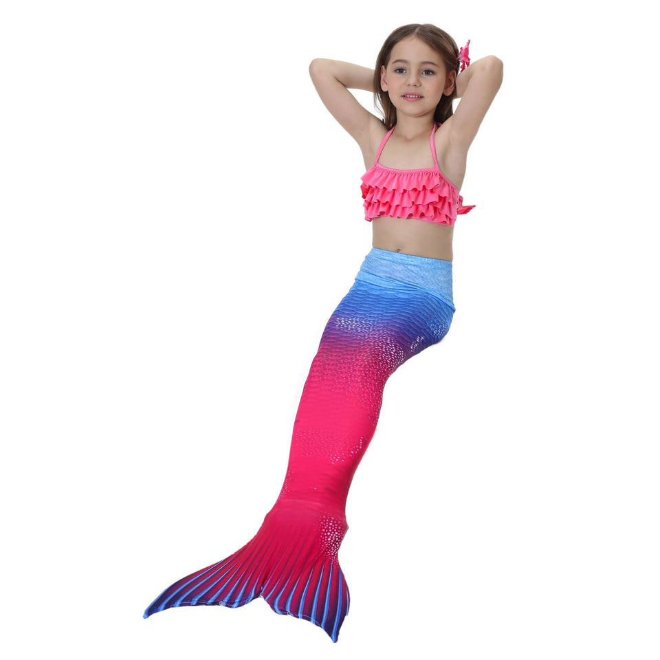 Girls / Adults Swimmable Mermaid Tail Swimsuit Swimwear Swimming Bathing Suit