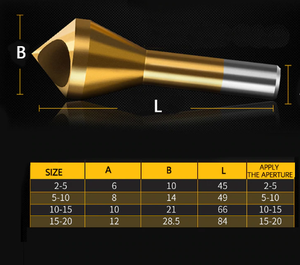 Countersink Deburring Drill Bit Set