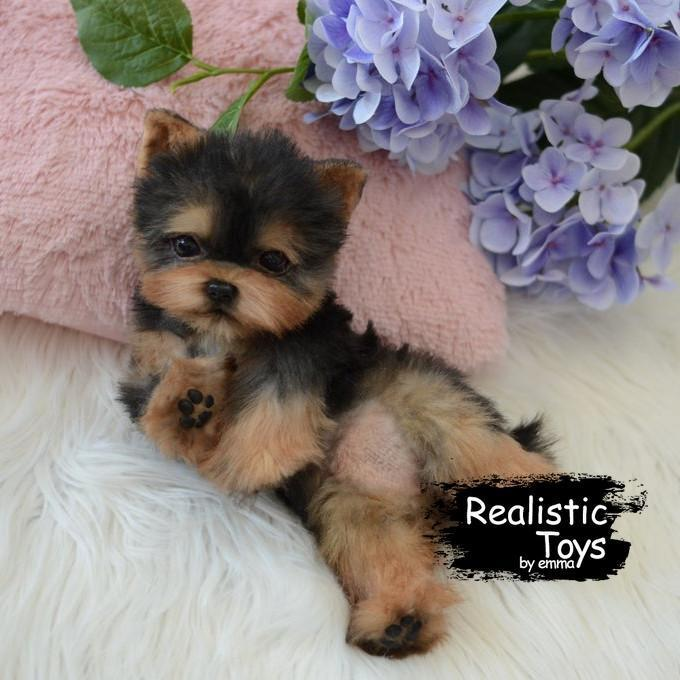 ❤Super Cute Realistic Soft Toy, So soft Yorkie Doll for The Best Children's and Family Gifts
