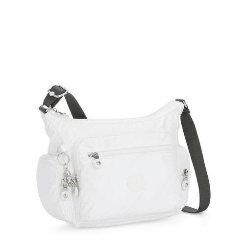 GABBIE S WHITE METALLIC - Kipling UAE