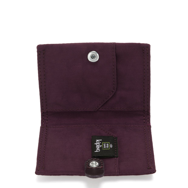 CARD KEEPER DARK PLUM - Kipling UAE