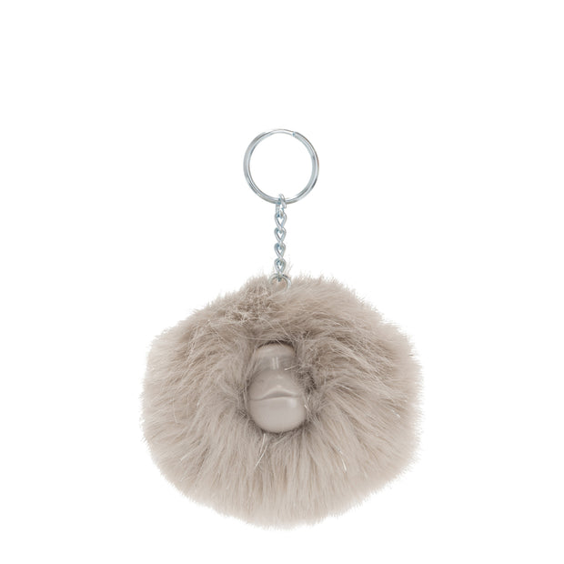 POMPOM MONKEY PACK10  GREY METALLIC - Kipling UAE
