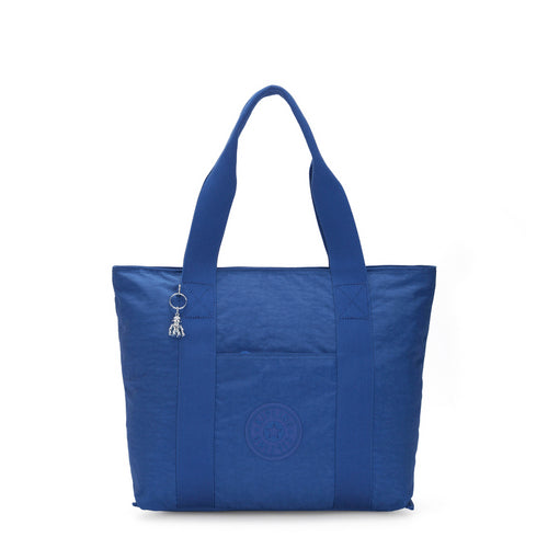 Kipling Era M Wave Blue O - Medium Travel Tote With Trolley Sleeve - Ki7380X45