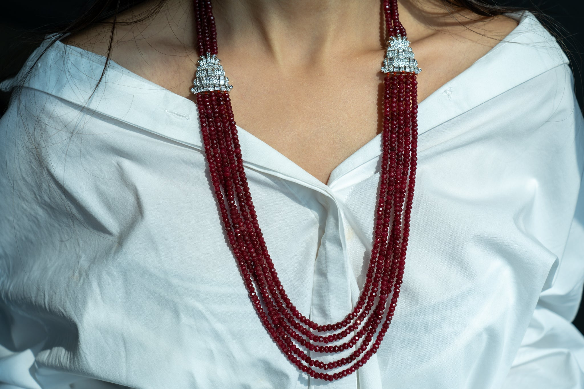 Broach Ruby Necklace