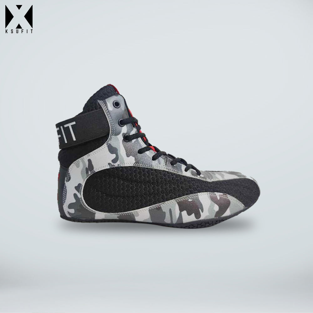 Men's X-1 Black Camo Shoes - KSUFIT Activewear