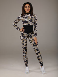 One-piece Bodysuit Element Camouflage Long Sleeve - KSUFIT Activewear