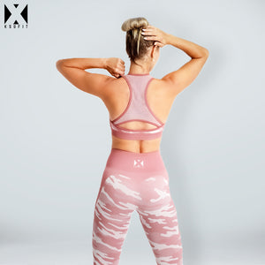 CAMO SEAMLESS LEGGINGS AND BRA SET - KSUFIT Activewear
