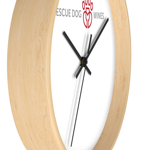 Rescue Dog Wines Wall clock