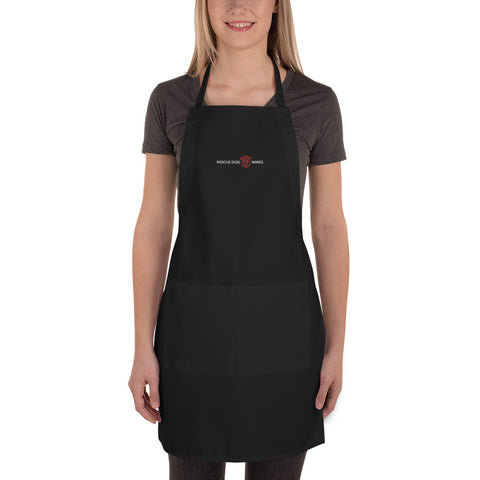 RDW Black Embroidered Apron