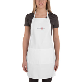 RDW White Embroidered Apron