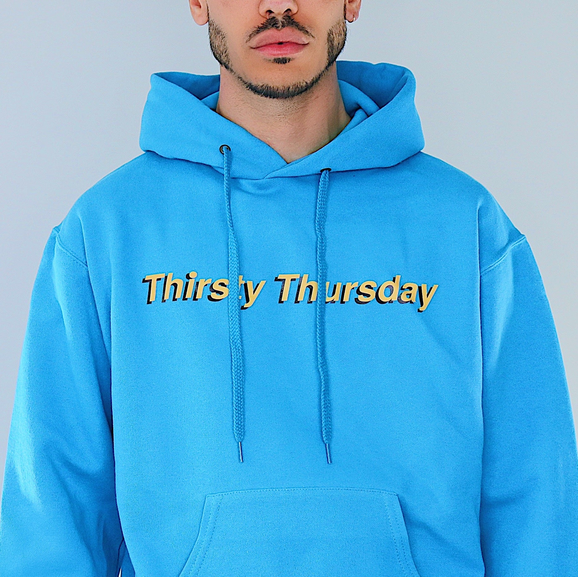 THIRSTY THURSDAY BLUE HOODIE