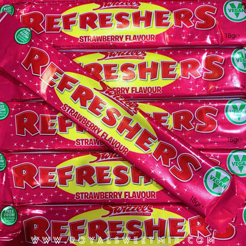 Refreshers Strawberry Chew Bars - X10 / X60 - Royal Sweet Mix