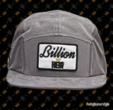 Velcro 5 Panel Cap in Grey Suede (includes 1 x Velcro Patch)
