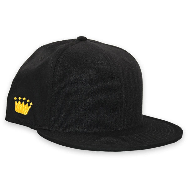 Velcro Snapback Cap in Black (includes 1 x Velcro Patch) #capbuilder