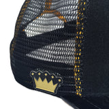 Kids Velcro Baseball Cap in Patent Leather + Black Mesh (includes 1 x Velcro Patch) #capbuilder