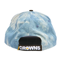 Velcro Baseball Cap in washed Denim (includes 1 x FREE Velcro Patch)